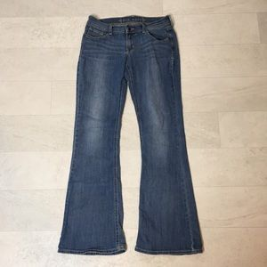 Old Navy Jeans Sz 8 Reg Bootcut Flare Stretch Blue